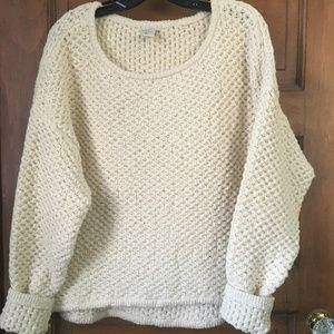 H&M Cozy Knitted Sweater, Cream, Size 8